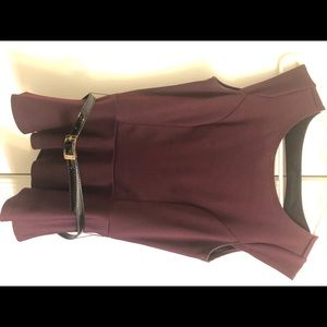 Charlotte Russe maroon top with belt